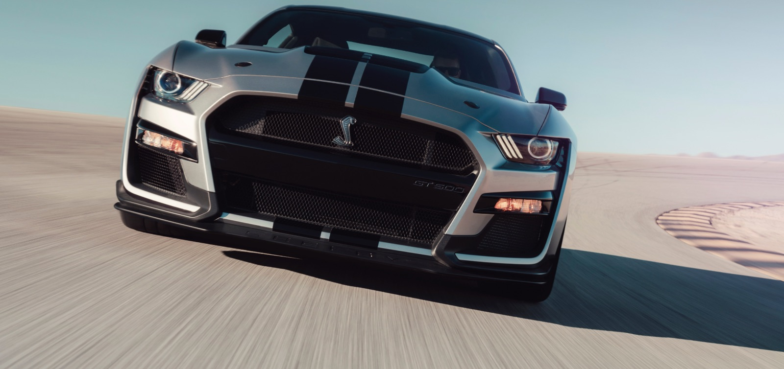 Ford Mustang Shelby GT500 (2019) vista frontale