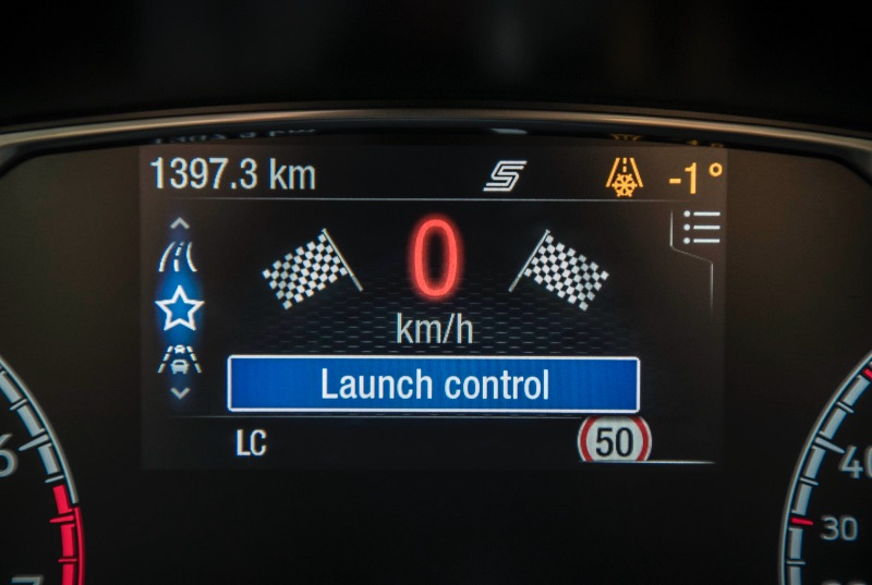 Ford Fiesta ST 2018 launch control